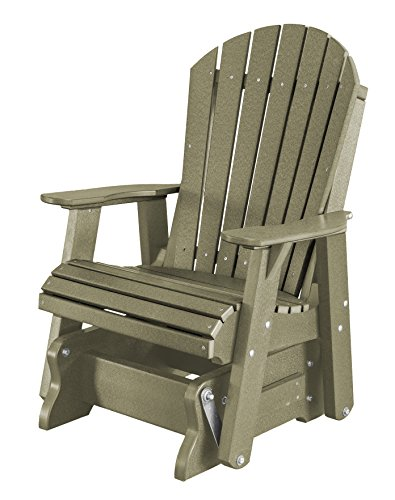 Heritage Glider - Little Cottage Company LCC-106 Heritage Single Rock-A-Tee Glider, Olive