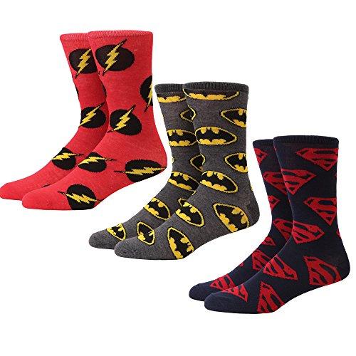 DC Comics Logos Men's 3-pack Crew Socks ()