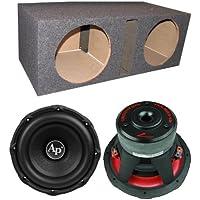 Audiopipe TXX-BD3-12 12 3600W Car Audio Subwoofers (Pair) + Dual Vented Sub Box