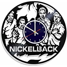 Wall clock Nickelback made from real vinyl record, Nickelback music wall poster, best gift for Nickelback fans