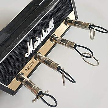 Delisouls Vintage Amplificador de Guitarra Soporte Llave Pared Montaje Llaveros Percha Guitarra El/éctrica Llave Gancho Almacenamiento para Pluginz JCM800 Jack Estante B