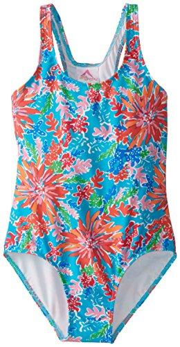 Kanu Surf Big Girls' Ariel One Piece Swimsuit, Blue, 7