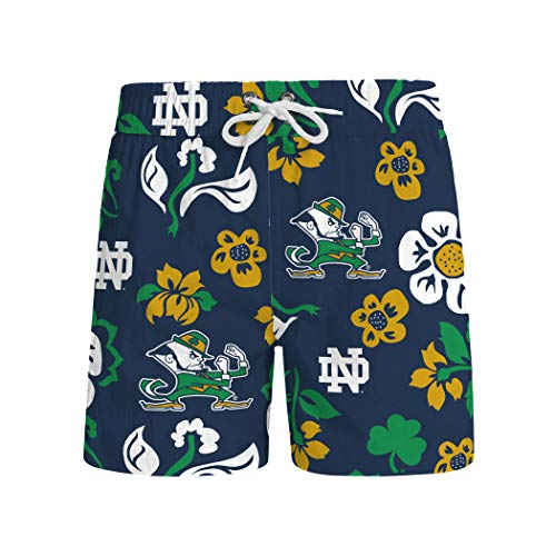 (Wes and Willy NCAA Mens Floral Swim Shorts (XX-Large, Notre Dame Fighting Irish))