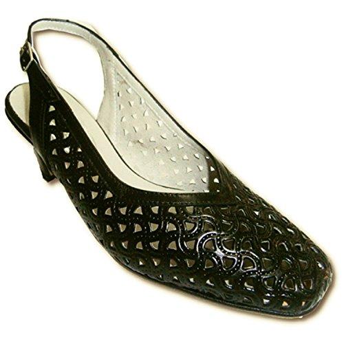 Ajouré En Retour Vazquez Pomares Open Chaussures Larges Noir nfITq1xw