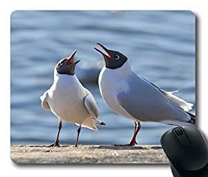 Black Headed Gulls Mouse Pad Desktop Laptop Mousepads Comfortable Office Mouse Pad Mat Cute Gaming Mouse Pad by Maris's Diary