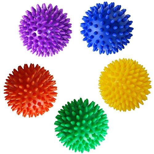 Balles de massage réflexologie Homgaty 1Pièce pour soulager le stress et pour les exercices de remise en forme avec une dimension de 9cm.
