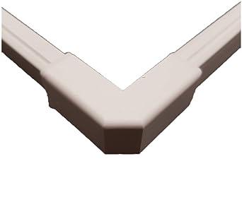 Eckverbinder Innen Eck für Kabelkanal 20 x 10 mm PVC Weiß von powerpreis24