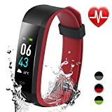 Jeestam Color Screen Fitness Tracker with Double Color Strap,Activity Tracker with Heart Rate Monitor Sleep Monitor,Waterproof Smart Watch Bracelet Pedometer Wristband for Android&iOS