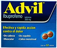 Advil Grageas, 12 Tabletas.