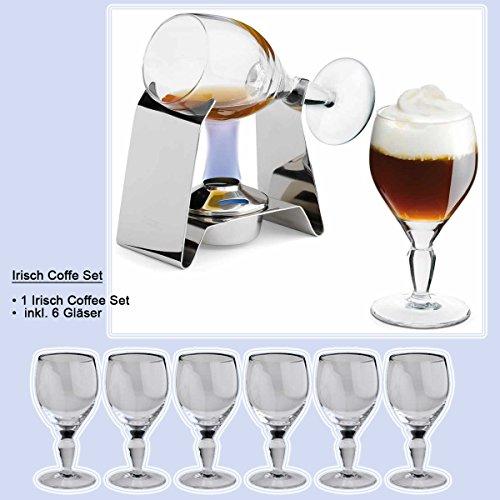 Irish Coffee Set mit 6 Gläser | im 2er Set | von Spring