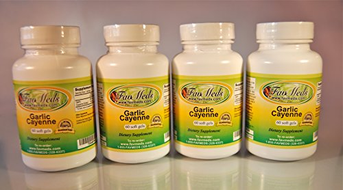 Garlic Cayenne, Made in USA - 240 (4x60) softgels by Favmedsusa (Image #2)
