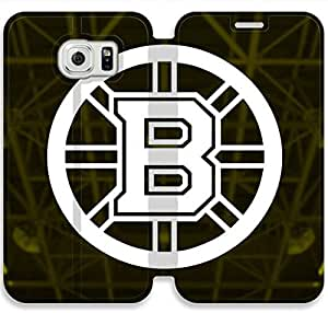 Screen Protection Phone Cases Boston Bruins-15 iPhone Samsung Galaxy S6 Leather Flip Case