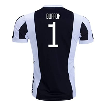 e8e420e7b Image Unavailable. Image not available for. Color  2017-18 Juventus Home  Football Soccer T-Shirt Jersey (Gianluigi Buffon 1)