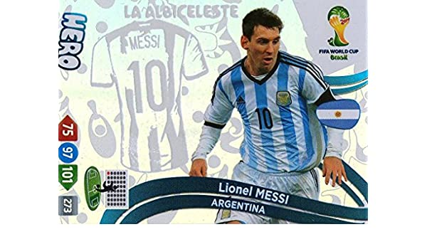 FIFA World Cup 2014 Brazil Adrenalyn XL Update Lionel Messi Hero: Amazon.es: Juguetes y juegos