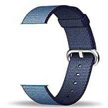 Smart Watch Band, Uitee Woven Nylon Band for Apple Watch 42mm Series 1 & 2, Uniquely and Artistically Designed Replacement Strap for iWatch, Best Comfortably Light With Fabric-Like Feel (Navy Blue)