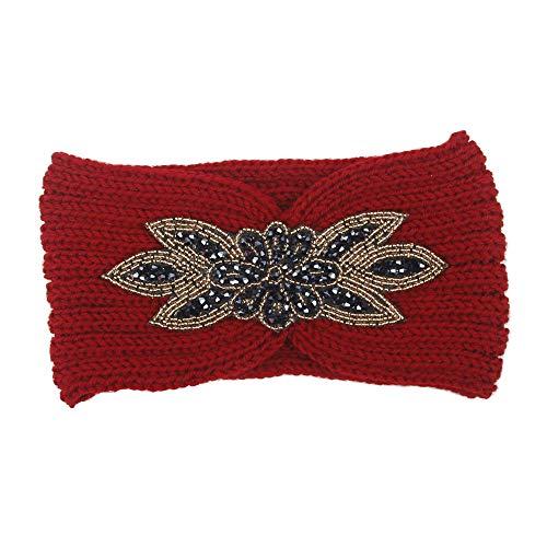 ANJUNIE Yoga Headbands for Women Harley Hair Ladies Letter Sports Sweatband Gym Stretch Hair Band(3-Red,Freesize) -