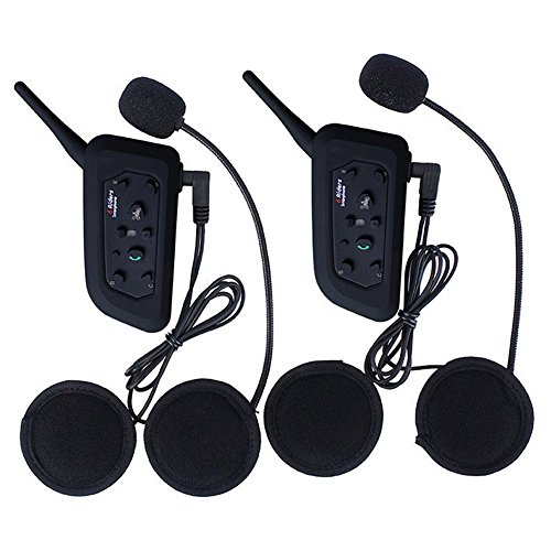 Amazingbuy 2 Sets Vnetphone V6 BT Intercom Bluetooth Interphone 1200M Range 6 Riders Motorcycle Helmet - Motorcycle Snowmobile Multi Interphone Headsets 6 Riders. Great for Skiing and Riding