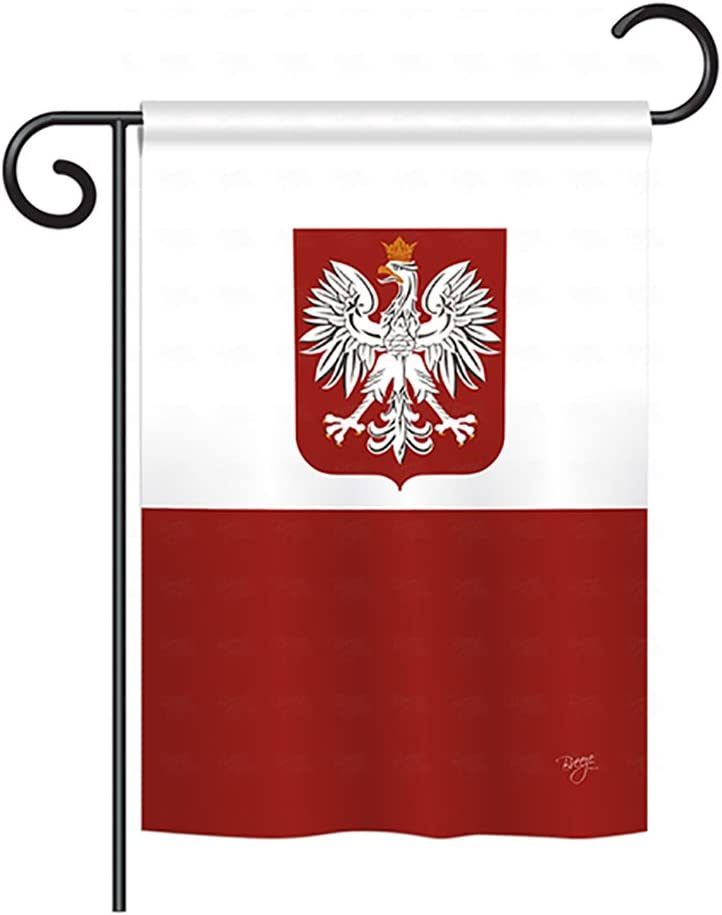 "Breeze Decor G158078 Poland Flags of The World Nationality Impressions Decorative Vertical Garden Flag 13"" x 18.5"" Printed in USA Multi-Color"