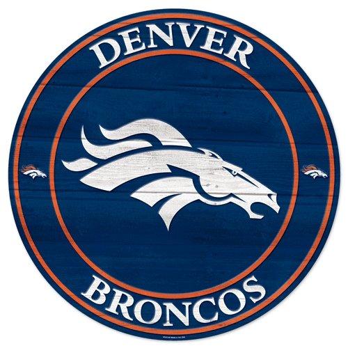 Team Effort NFL Denver Broncos NFL Denver Broncos Wood Sign 19.75