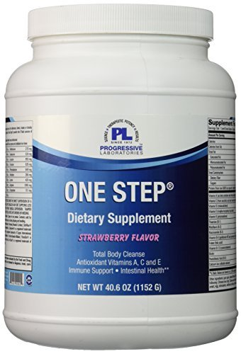 (Progressive Labs One Step Strawberry Supplement,net weight 40.6oz (1152g) by Progressive Labs)
