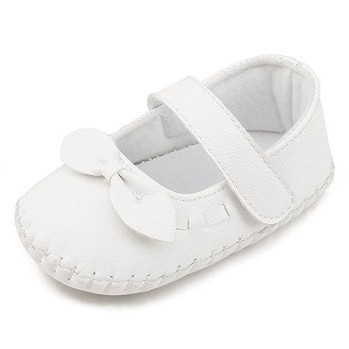 37b4ee80e9e DELEBAO Zapatos Bebe Niña Zapatillas para Bebes con Suela Blanda Zapatos Primeros  Pasos Recien Nacidos Zapatos Cuero Bebe  Amazon.es  Zapatos y complementos