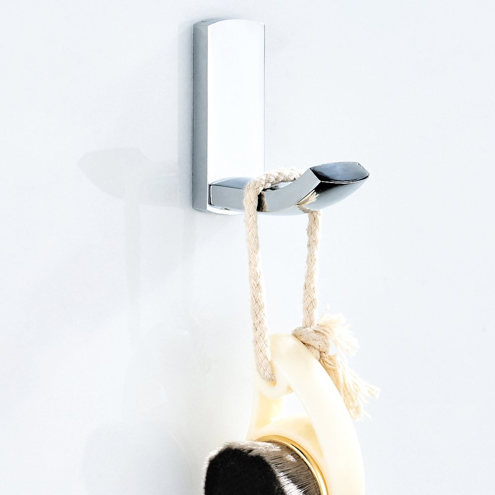 BigBig Home Brass Towel Ring Chrome Finish Simple Style Bath Accessory Hardware Wall Mounted