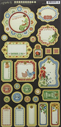Graphic 45 Home Sweet Home Journaling Chipboard (Chipboard Home)