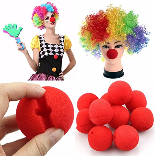 Costumes Ideas For Circus Theme (Red Circus Foam Clown Nose Mouse Animal Mickey Minnie Halloween Christmas Party Costume Accessory(40 pcs))