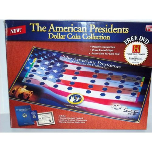 The American Presidents Dollar Coin Collection Book w/ Bonus DVD (President Coin Book Dollar)