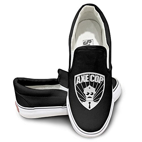 GD Axe AC Cop Comfort Unisex Flat Canvas Shoes Sneaker 44 Black