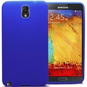 Accessory Master- Azul Funda Carcasa de Silicona para Samsung Galaxy Note 3 N9005