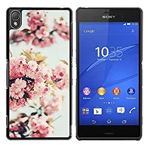 Be Good Phone Accessory // Dura Cáscara cubierta Protectora Caso Carcasa Funda de Protección para Sony Xperia Z3 D6603 / D6633 / D6643 / D6653 / D6616 // Apple Blossom Tree Spring Na