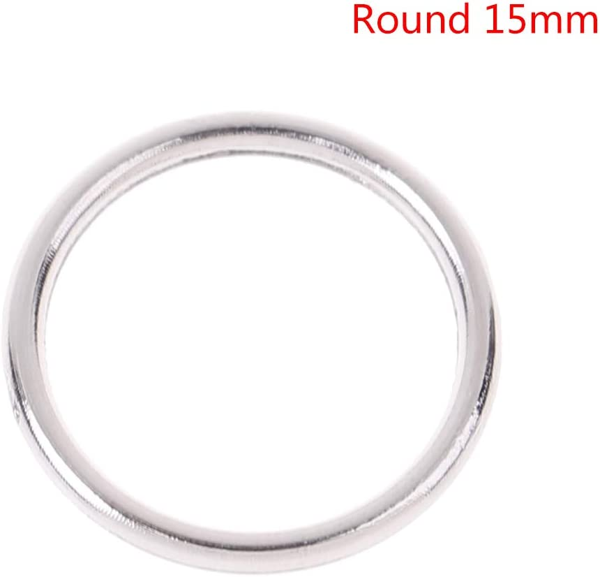 100pcs Silver Metal Bra Strap O Rings Lingerie Underwear Sewing Craft 10mm