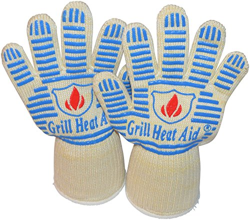Heat Resistant Gloves - Light-Weight, Flexible BBQ Gloves - 100% Cotton Lining for Super Comfort