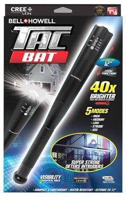 Bell + Howell Tac Stick Military Grade High Performance Tactical Flashlight & Stick, As Seen on TV! Black by Bell + Howell