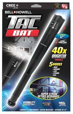 Bell + Howell Tac Stick Military Grade High Performance Tactical Flashlight & Stick, As Seen on TV! Black