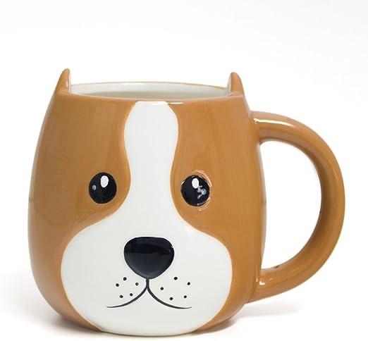 Balvi Mug Woof! Taza en Forma de Cabeza de Perro Capacidad 400ml ...