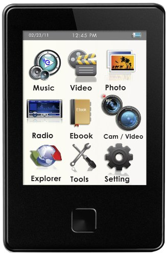 Ematic EM808 8 GB MP3 Video Player with 5 MP Camera and LED