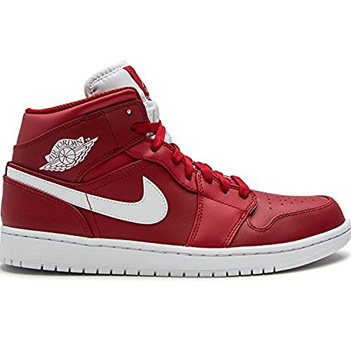 Price comparison product image JORDAN MENS AIR JORDAN 1 MID GYM RED WHITE WHITE