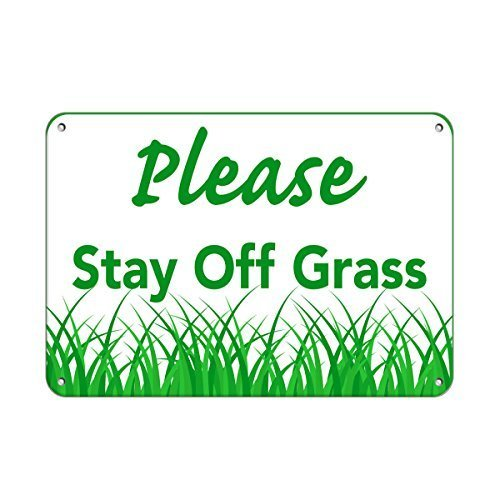 EvelynDavid Metal for Outdoors Please Stay Off The Grass Keep Off Grass Aluminum Metal Sign Tin Sign 8 X 12 Inch.