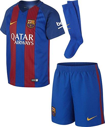 2016-2017 Barcelona Home Nike Little Boys Mini Kit (with sponsor