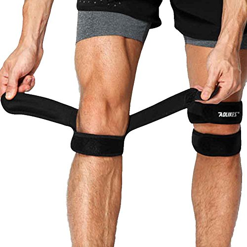 ZTL 2PCS Patella Knee Strap Adjustable Dual Strap Compression Band Brace Knee Support for Running, Basketball, Arthritis, Outdoor Sports by Ztl