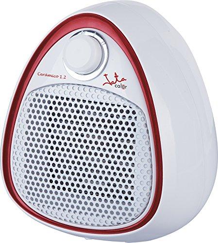Jata TC73 Calefactor cerámico PTC, silencioso 1200 W, Blanco con Detalle Rojo: Amazon.es: Hogar