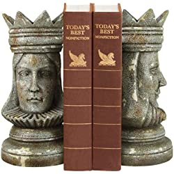 Sterling Home Pair of King And Queen Bookends, 9-3/4-Inch Tall