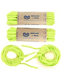 Mercury + Maia Oval Athletic Shoelaces 2 Pair Pack- Made in the USA