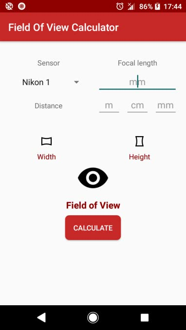 Amazon com: Field of View Calculator: Appstore for Android