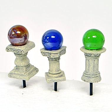 Fairy Garden Mini Gazing Globes, Set of 3