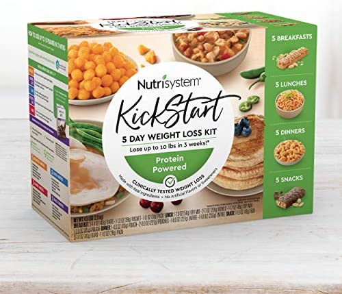 Nutrisystem® Kickstart Green Protein-Powered Kit – Real Balanced Nutrition® – 5-Day Weight Loss Kit with Delicious Meals & Snacks