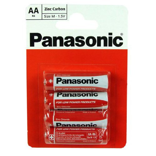 Panasonic Pack Zinc Carbon Batteries