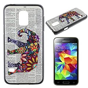 Elephant Pattern PC Material Phone Case for Samsung Galaxy S5 Mini